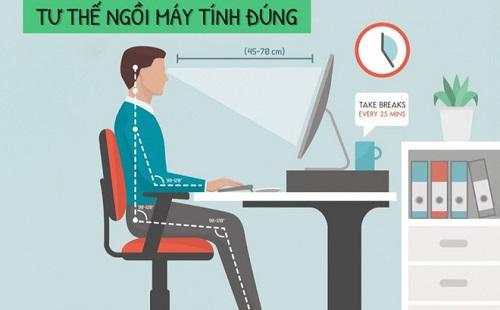 Cách giảm đau vai do dùng máy tính