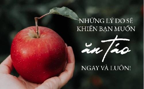 Những lý do sẽ khiến bạn muốn ăn táo ngay và luôn